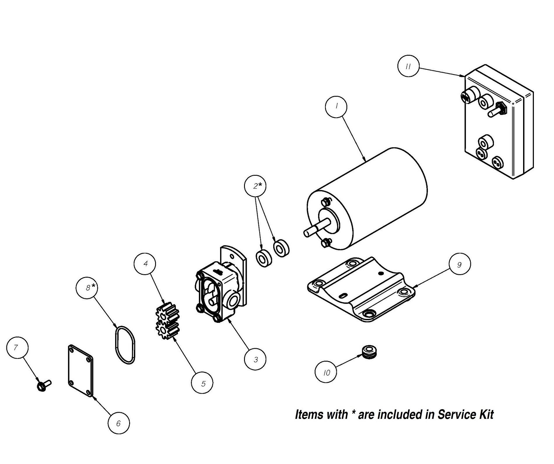Gpbr 1 12v Positive Displacement Reversing Gear Pump Groco