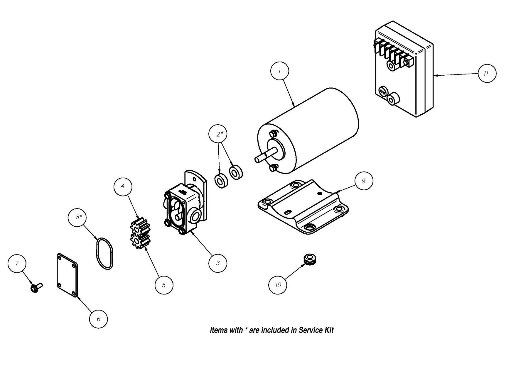 Gprr 1 12v Positive Displacement Reversing Gear Pump Groco
