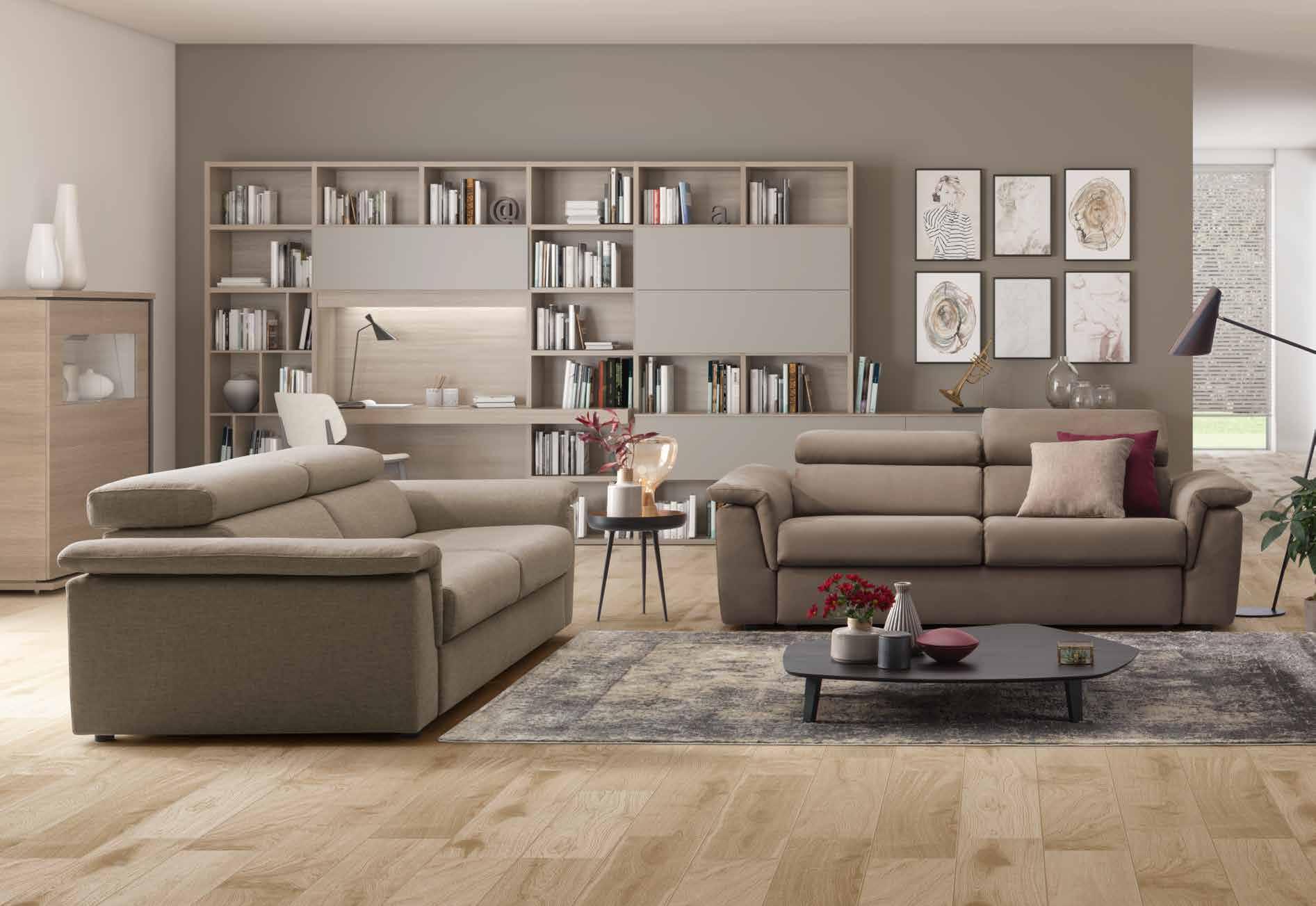 come decorare il soggiorno le pareti del living non sono mai nude: Come Arredare Un Soggiorno Moderno