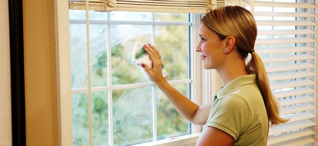 green cleaning windows
