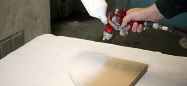 using spray paint gun