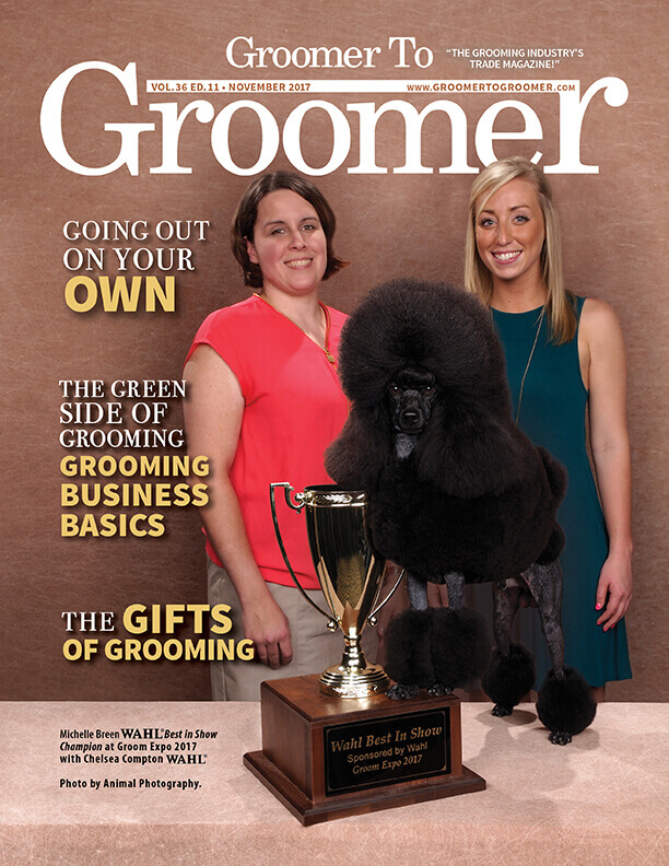 November 2017 Groomer to Groomer cover