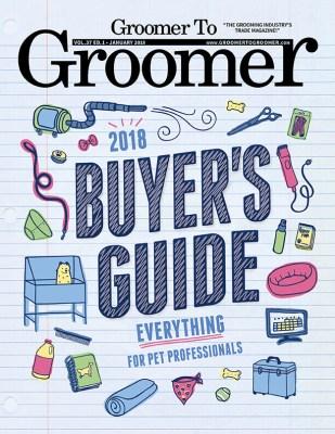 January 2018 Groomer to Groomer Cover