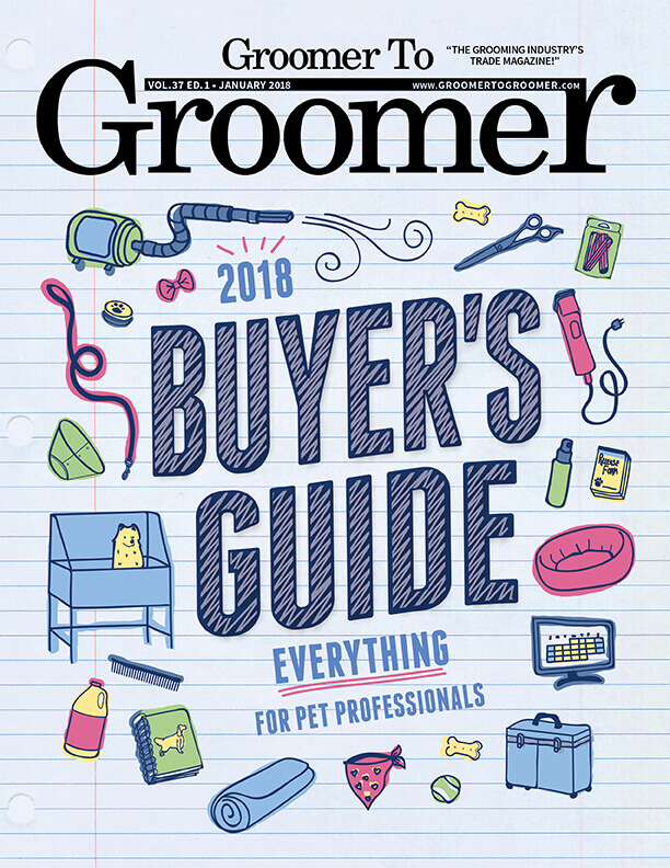 January 2018 Groomer to Groomer Cover