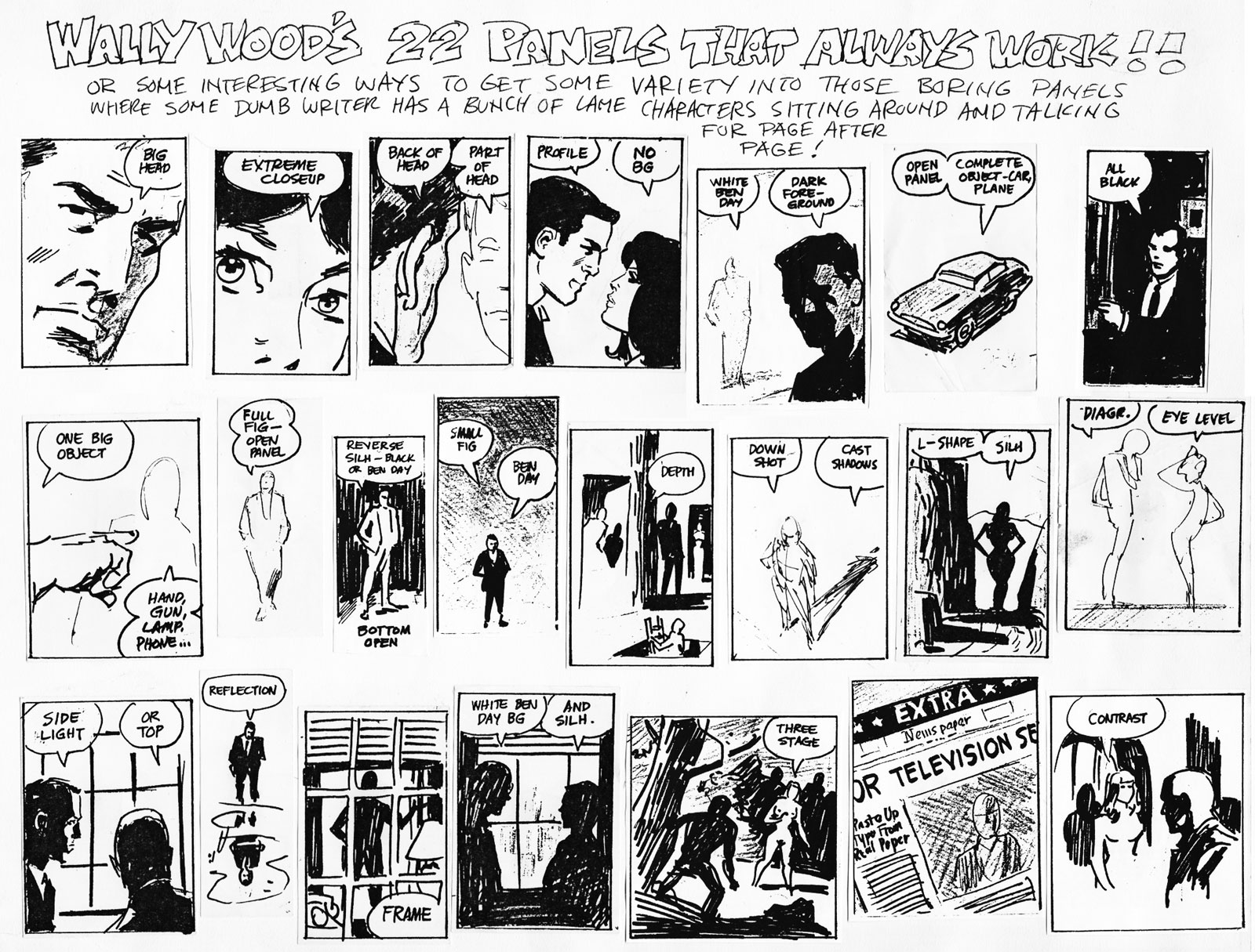 Wally Wood\'s 22 Panels/Frames that Always Work, In Print and Video ...