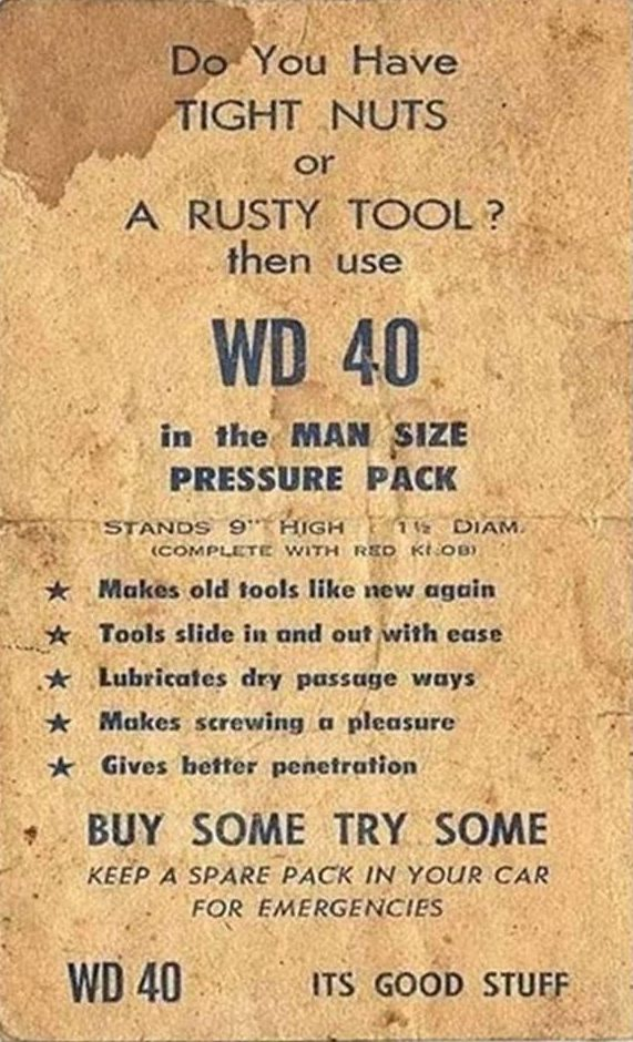 1960s WD 40 ad
