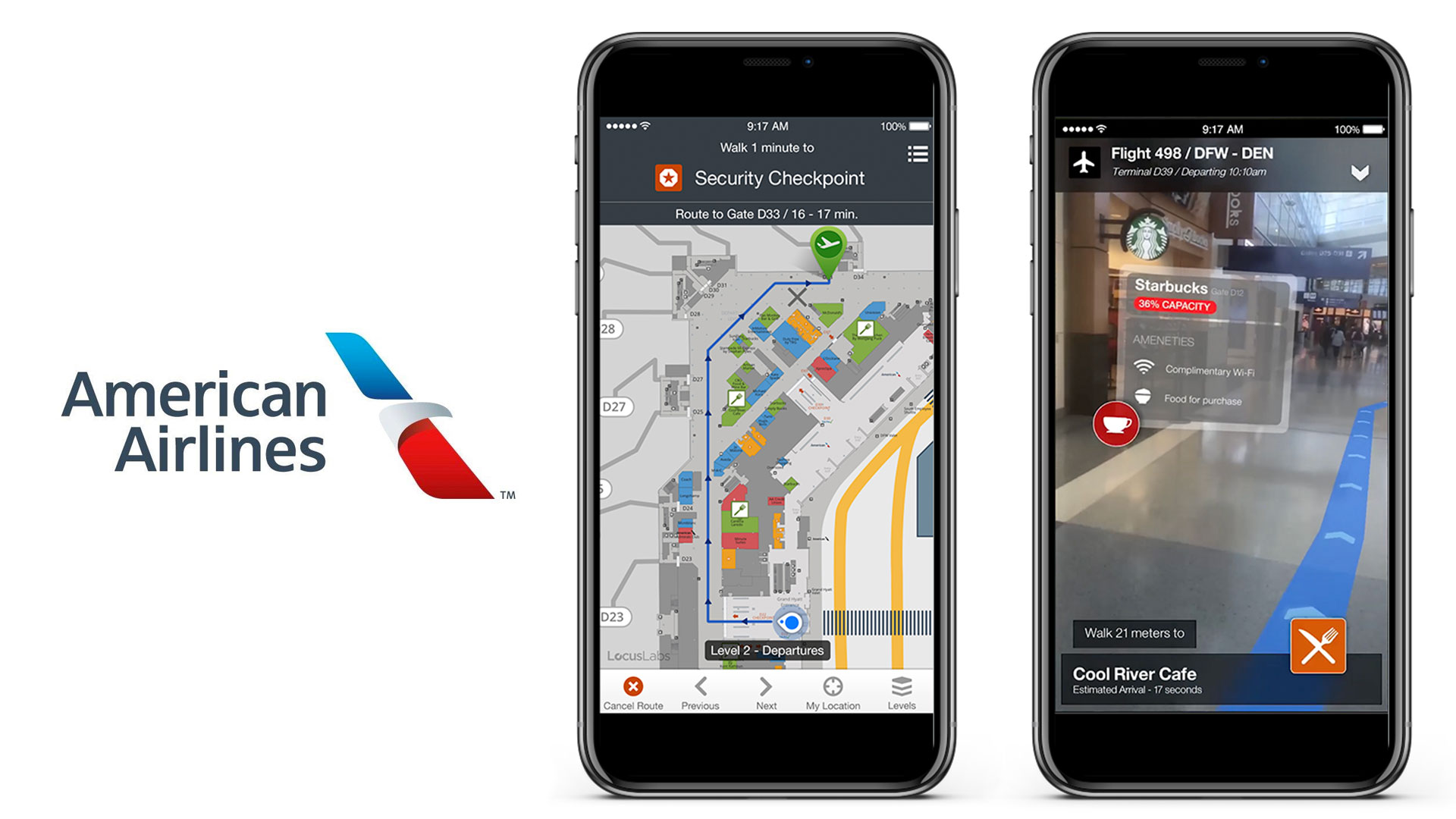 American Airlines AR Wayfinding