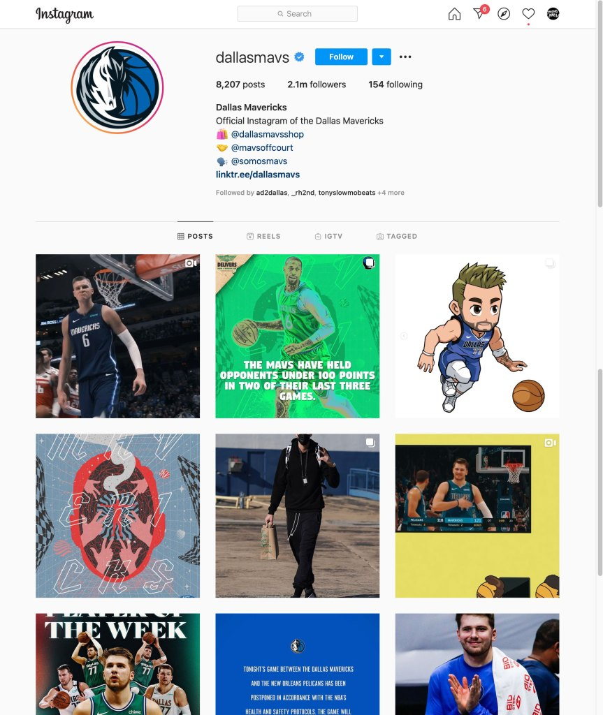 Dallas Mavs Instagram