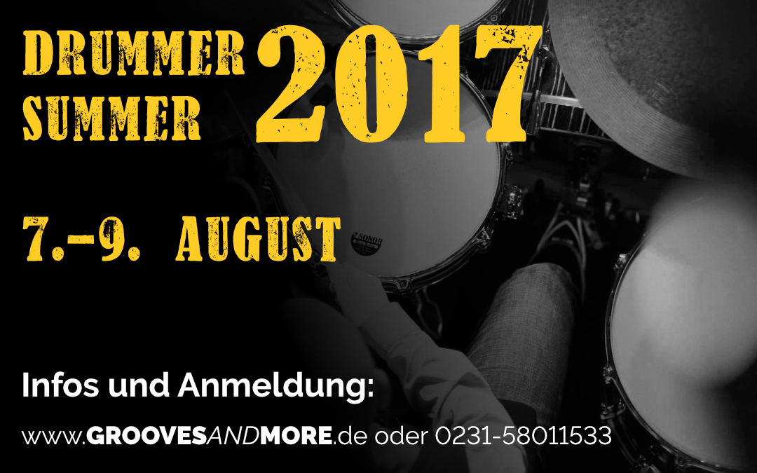 Drummer Summer 2017 – 3 Tage Intensiv Workshop