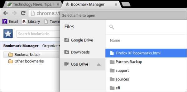 How to Transfer Bookmarks from XP to Chromebook
