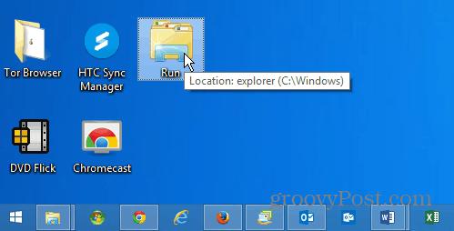 run shortcut