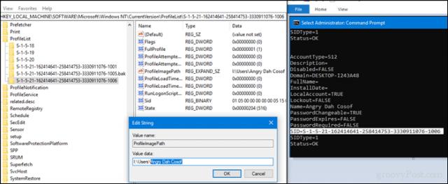 cara mengganti nama folder user di windows 10