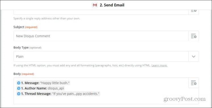 настроить электронную почту disqus
