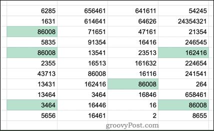 Выбранные дубликаты в Google Таблицах