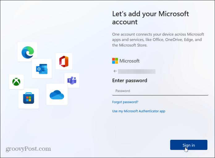 пароль учетной записи Windows