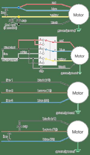 motor wiring diagrams  groschopp