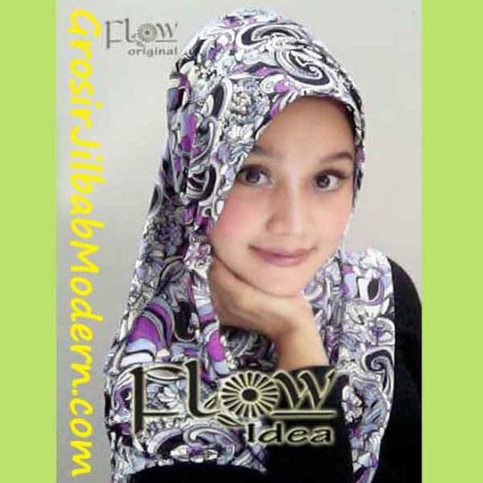 Jilbab Syria Layer Artee Ungu