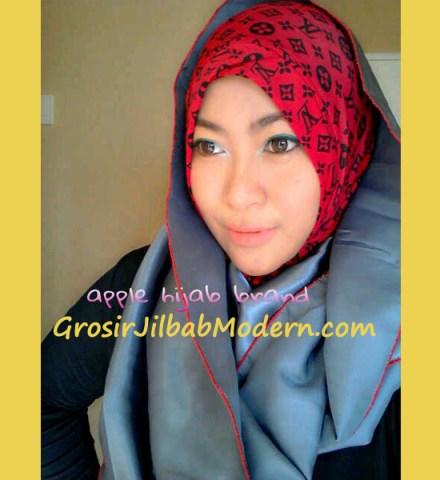 Jilbab Sharoon Angel Merah Abu