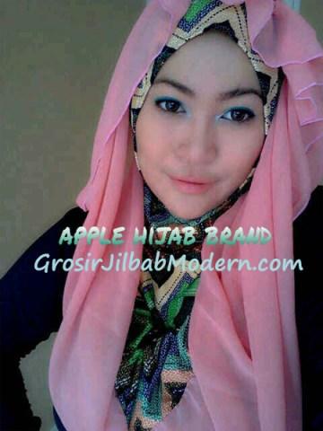 Jilbab Beverly Hoodie Pink Salem