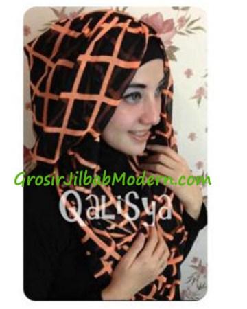 Jilbab Danica Hoodie Square Colour Orange