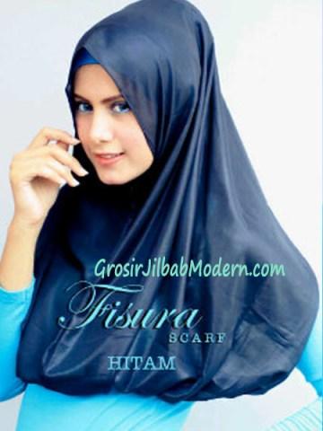 Jilbab Hoodie Rehisya Hitam