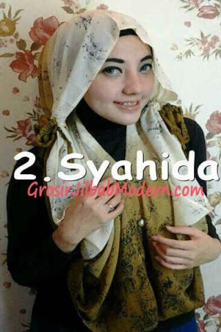 Jilbab Hoodie Talkan Putih Coklat