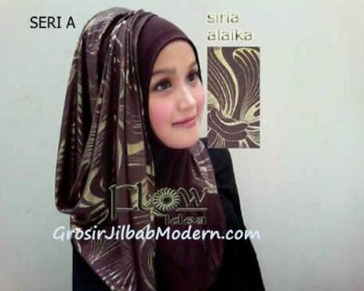 Jilbab Syria Alaika Coklat Tua SERI A