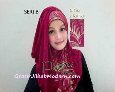 Jilbab Syria Alaika  Marun SERI B
