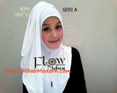 Jilbab Syria Alaika Putih SERI A