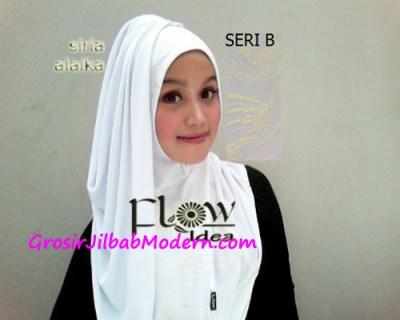 Jilbab Syria Alaika Putih SERI B