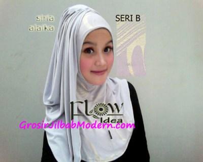 Jilbab Syria Alaika Silver SERI B