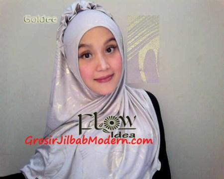 Jilbab Syria Goldee Seri 2 Abu Silver