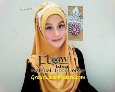 Jilbab Syria Queen Kuning
