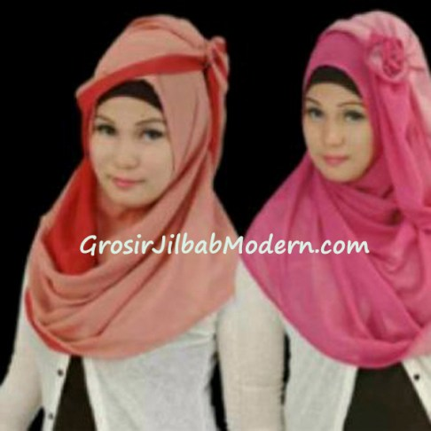 Jilbab Syria lady 2tone by Rakha