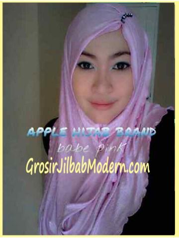Jilbab Pashmina Kombinasi Syria Great PashSyr Baby Pink