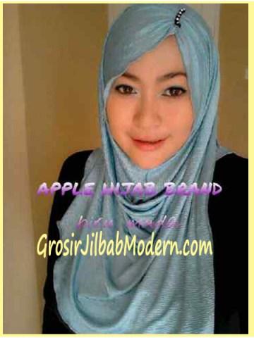 Jilbab Pashmina Kombinasi Syria Great PashSyr Biru Muda