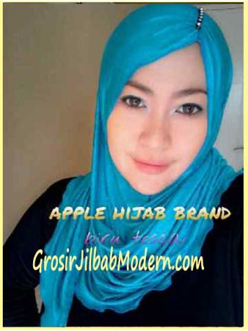 Jilbab Pashmina Kombinasi Syria Great PashSyr Biru Toska