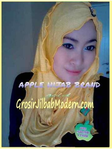 Jilbab Pashmina Kombinasi Syria Great PashSyr Gold