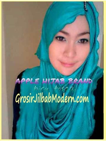 Jilbab Pashmina Kombinasi Syria Great PashSyr  Toska