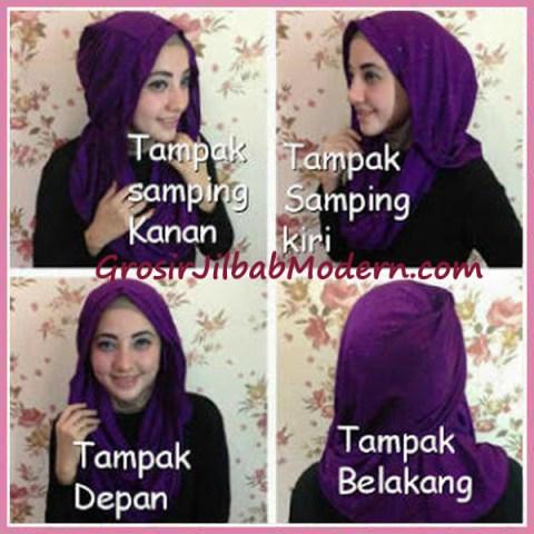 Jilbab Zura Hot Blink Hoodie Tampak Depan, Belakang, Samping