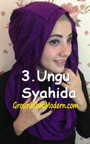 Jilbab Zura Hot Blink Hoodie no 3.  Ungu