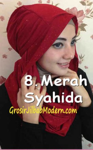 Jilbab Zura Hot Blink Hoodie no 8. Merah