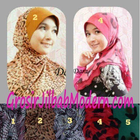 Jilbab Instant Pet Double Tile