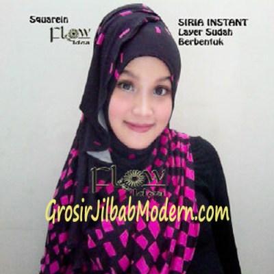 Jilbab Instant Squarein Pink