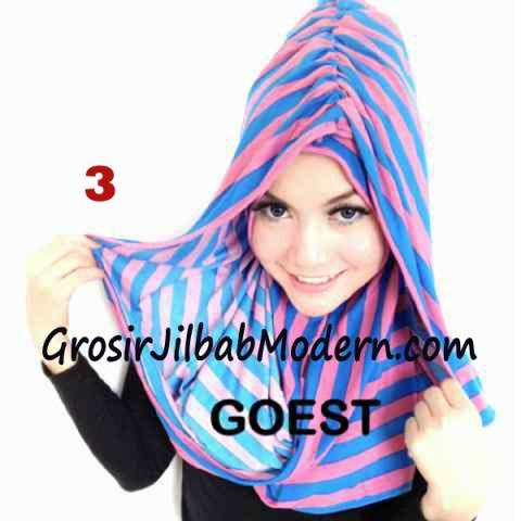 Jilbab StripTurban Lurik No 3