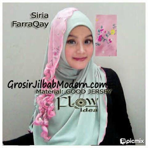 Jilbab Syria FarraQay Hijau-Pink