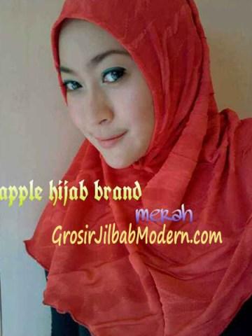 Jilbab Syria Instant Esklusive Aleeza Merah