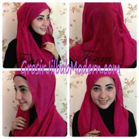 Jilbab Twisted Hoodie Tampak Samping