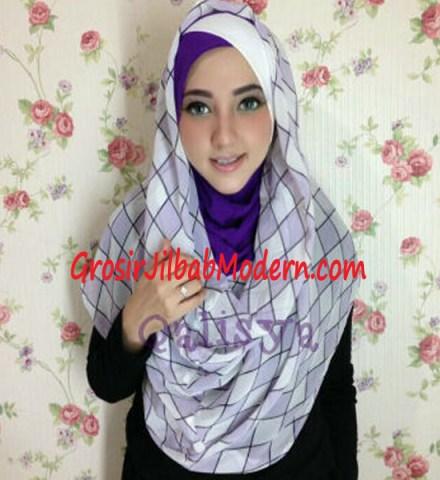 Jilbab Hoodie Instant Ileana Wajik No 4 Ungu