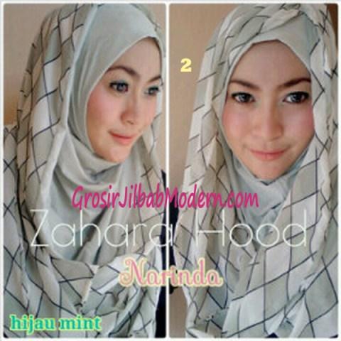 Jilbab Hoodie Instant Zahara Hood No 2 Hijau Mint